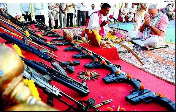 Image result for modi and guns